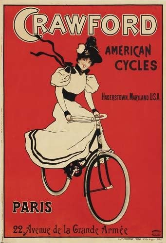 2028001: Posters CRAWFORD AMERICAN CYCLES. 55x38 inches