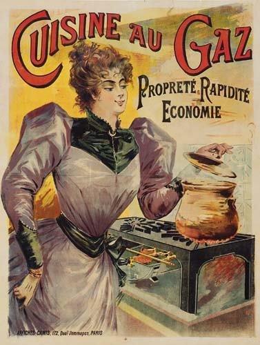 2028002: Posters CUISINE AU GAZ. 50x38 inches. Camis, P