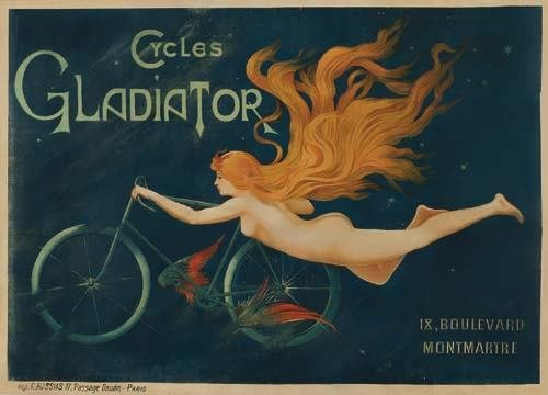 2028003: Posters CYCLES GLADIATOR. Circa 1895. 38x53 in