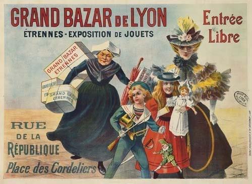 2028004: Posters GRAND BAZAR DE LYON. 42x57 inches. Lem