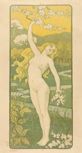 2028019: Posters PAUL BERTHON MAI. 1898. 26x15 inches.