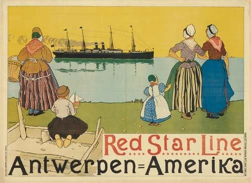 2028023: Posters HENRI CASSIERS RED STAR LINE / ANTWERP