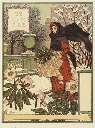 2028058: Posters EUGENE GRASSET LE MOIS. Calendar with