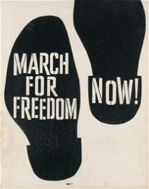 (CIVIL RIGHTS.) March for Freedom Now!