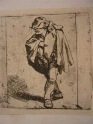 CORNELIS BEGA Man with his Hand in his Coat.