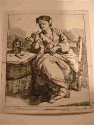 CORNELIS BEGA A Woman Smoking.