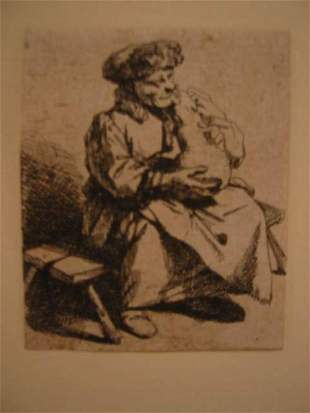 CORNELIS BEGA A Woman Seated Holding a Large J