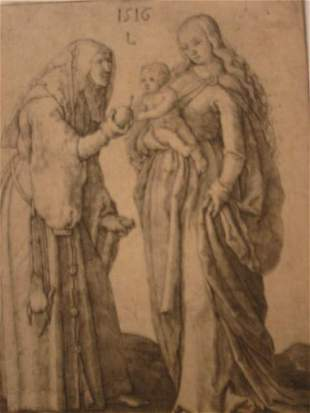 LUCAS VAN LEYDEN Madonna and Child with St. An