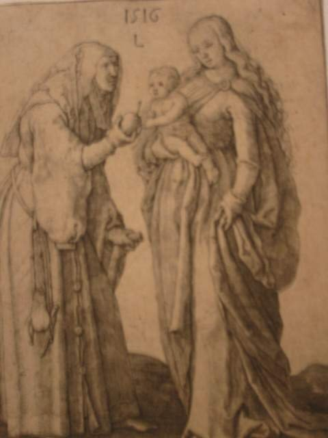 2029012: LUCAS VAN LEYDEN Madonna and Child with St. An