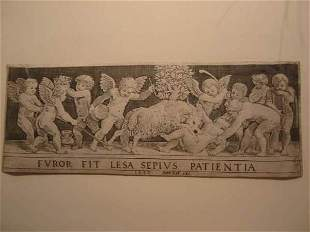 THE MASTER OF THE DIE Frieze with a Putto Knoc