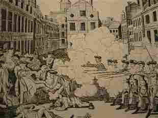 PAUL REVERE The Bloody Massacre Perpetrated in