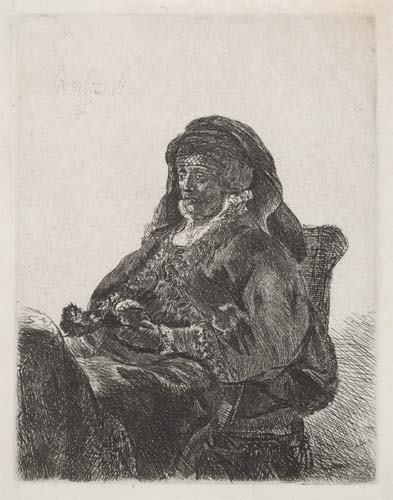 2029024: REMBRANDT VAN RIJN The Artist's Mother Seated,