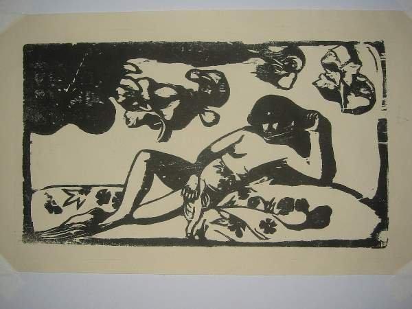 2029050: PAUL GAUGUIN Two woodcuts.