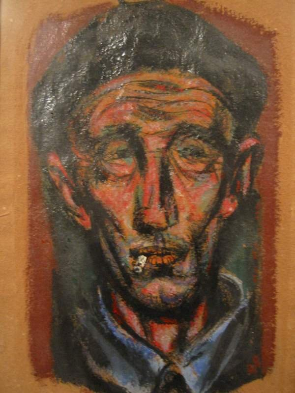 2029184: JOSEPH HIRSCH Head of a Man Smoking.