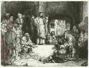 REMBRANDT VAN RIJN Christ Preaching (La Petit Tombe).