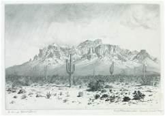 GEORGE ELBERT BURR Superstition Mountain, Apache Trail,