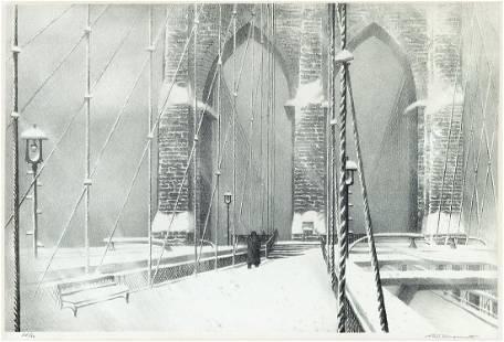 STOW WENGENROTH Brooklyn Bridge in Winter.