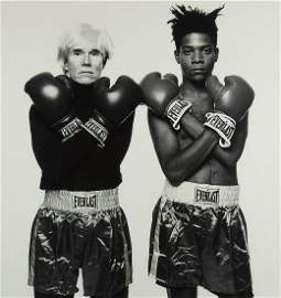 MICHAEL HALSBAND (1956- ) Andy Warhol and Jean-Michel