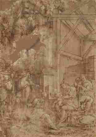 ITALIAN SCHOOL, 16TH-CENTURY The Adoration of