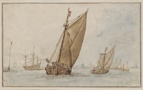 2030122: FLEMISH SCHOOL, 17TH-CENTURY Harbor Scene with