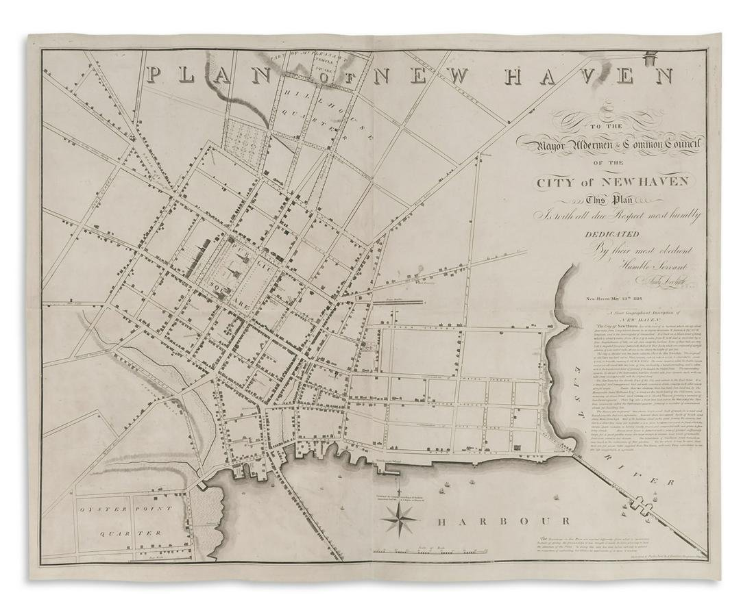 DOOLITTLE, AMOS. Plan of New Haven.