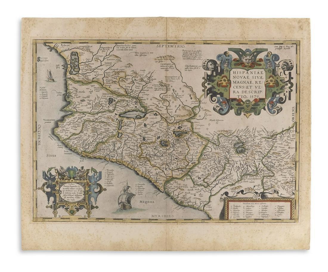 ORTELIUS, ABRAHAM. Hispaniae Novae Sivae Magnae, Recens