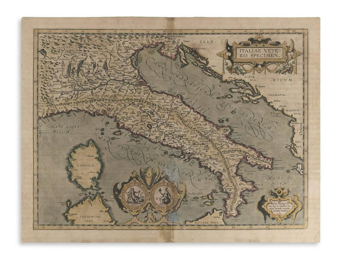 ORTELIUS, ABRAHAM. Italiae Veteris Specimen.
