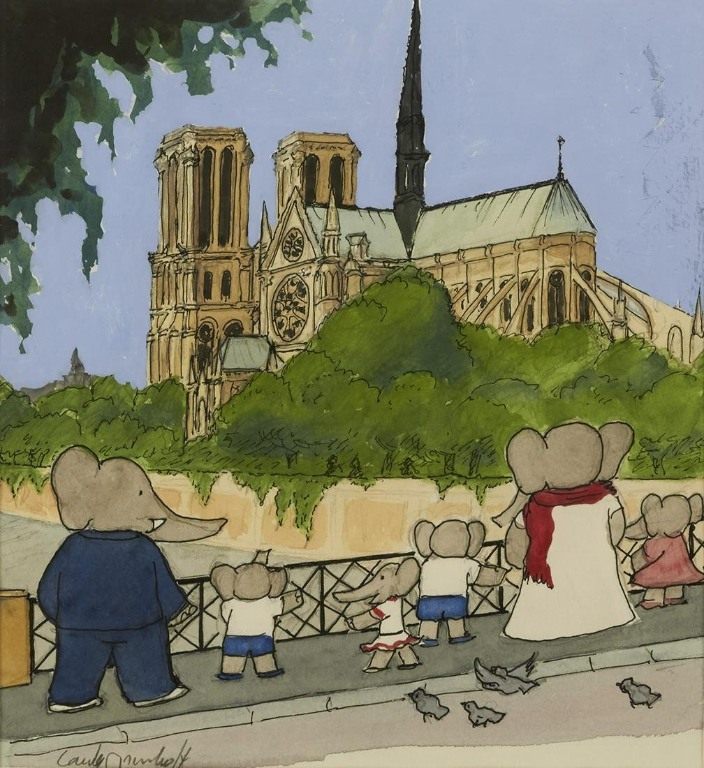 "LAURENT DE BRUNHOFF. ""Babar took them to see the"