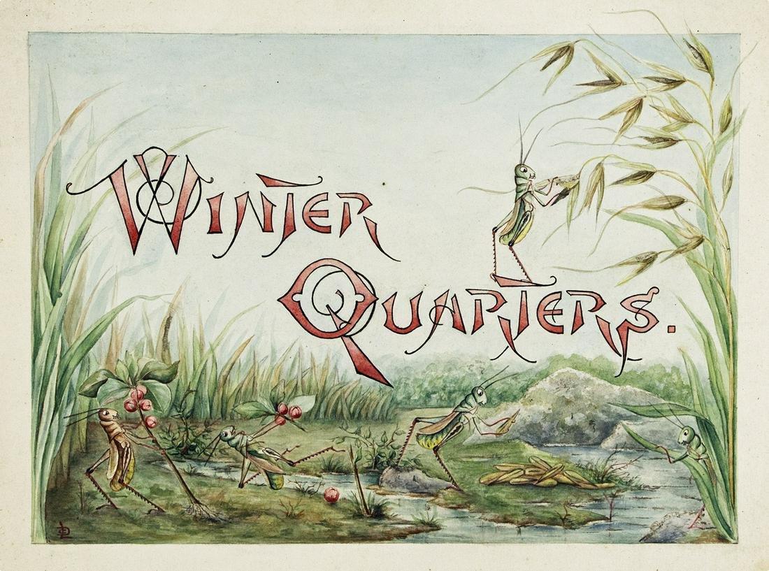 "LILLIAN C. DAVIDS. ""Doings of the Grasshoppers. Winter"