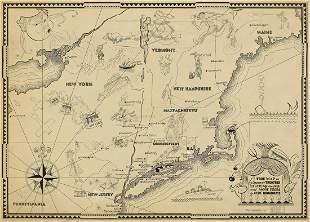 "AL HIRSCHFELD. ""A True Map of Ye Summer Theatres"