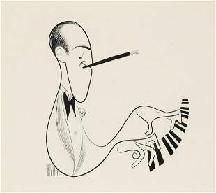 AL HIRSCHFELD. George Gershwin. [CARICATURE / MUSIC /