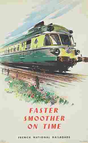 POSTER. FRENCH NATIONAL RAILROADS. 1957. Group