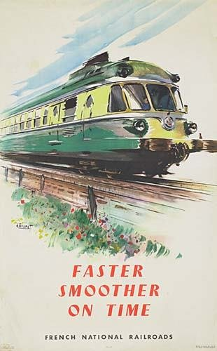 2031013: POSTER. FRENCH NATIONAL RAILROADS. 1957. Group