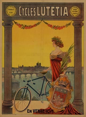 POSTER. CYCLES LUTETIA. 31x23 inches. G. Delat
