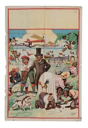 POSTER. [MINSTREL SHOW.] 41x27 inches. Donalds