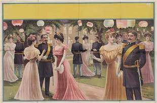 POSTER. [GARDEN PARTY.] 28x42 inches. Donaldso