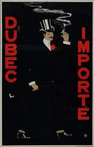POSTER. DUBEC IMPORTE. 28x18 inches. O. de Ryc