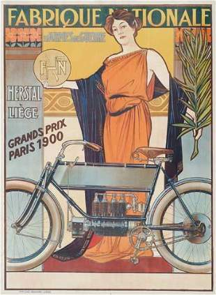 POSTER. FABRIQUE NATIONALE. 41x30 inches. Aug.