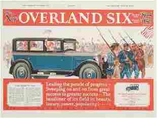POSTER. ESPERT. THE NEW OVERLAND SIX. 1925. 42
