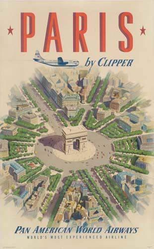 POSTER. ESPERT. PARIS BY CLIPPER / PAN AMERICA