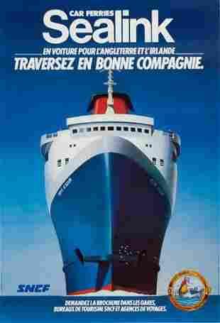 POSTER. ESPERT. SEALINK. 1982. 68x46 inches. L