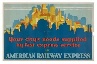POSTER. DE SOTO AMERICAN RAILWAY EXPRESS / YOU