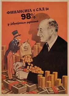 POSTER. DE SOTO. [FINANCE IN AMERICA IS 98% IN