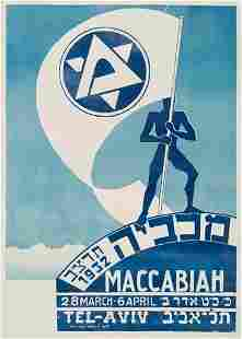 POSTER. DE SOTO. MACCABIAH. 1932. 39x28 inches