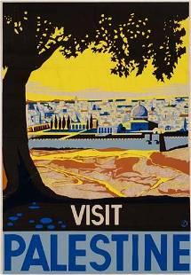 POSTER. DE SOTO. VISIT PALESTINE. Circa 1930.