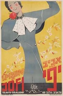 POSTER. ET SCHNEUER SPRING AT JOFI. Circa 1935