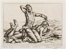 PAUL CADMUS 19041999 Two Boys on a Beach 1