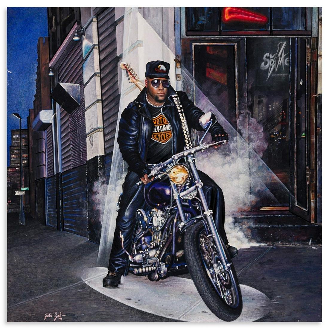"""JOHN ZAK Original portrait of Chuck """"C.T."""" Thompson"""