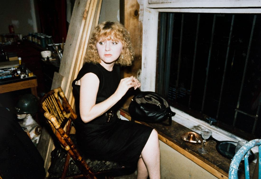 NAN GOLDIN (1953 - ) April in the Window, NYC.