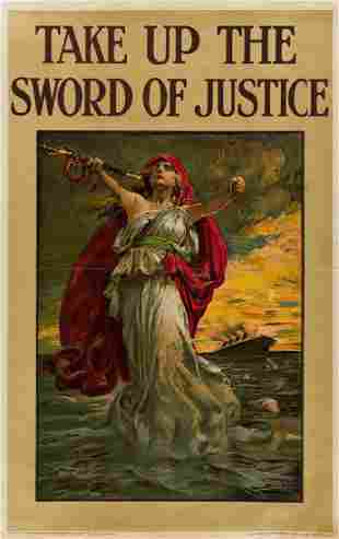 SIR BERNARD PARTRIDGE (1861-1945). TAKE UP THE SWORD OF
